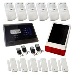 Sentry Pro Wireless GSM Auto Dial House Alarm Solution 4 SOLAR